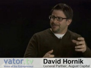 Interview With :   David Hornik, Venture Capitalist & General Partner at August Capital
