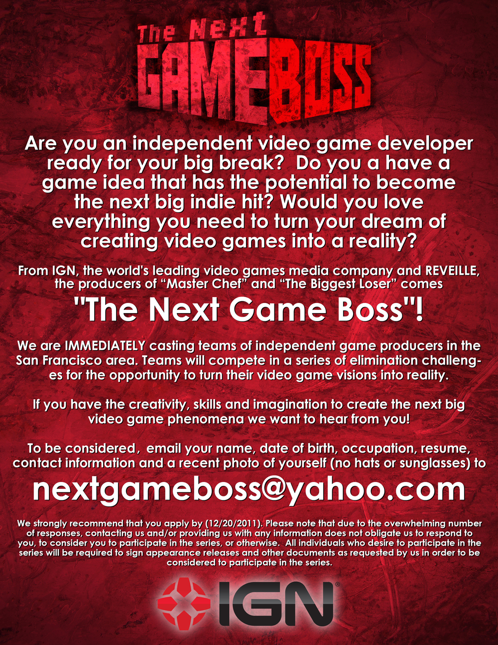 IGN is immediately looking for bay area video game developers!